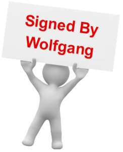 Webutation The Book signed by Wolfgang