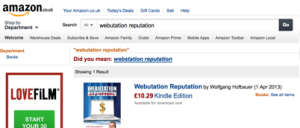 Webutation The Book on Amazon.co.uk