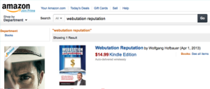Webutation The Book on Amazon