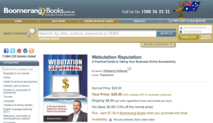Webutation The Book in Boomerang Books