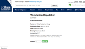 Webutation The Book in Collins