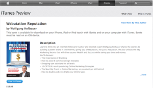 Webutation The Book on iTunes